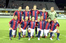 Bologna Football Club 1909, Emilia Romagna, member of the Serie A called Serie A TIM for sponsorship reasons, is a professional league competition for football soccer clubs located at the top echelon of the Italian football league system operating for eighty years from 1929. It is organized by Lega Calcio until 2010, but a new league like the English Premier League is scheduled to be created for the 2010-11 season. It is regarded as one of the elite leagues of the footballing world. Historically, Serie A has produced the highest number of European Cup finalists. In total Italian clubs have reached the final of the competition on a record of twenty-five different occasions, winning the title eleven times, AC Milan, Juventus, Internazionale Inter FC, Roma, Udinese, Fiorentina, Lazio, Palermo, Genoa, Sampdoria, Napoli, Atalanta, Catania, Bari, Chievo, Livorno, Parma, Siena, Bologna and Cagliari