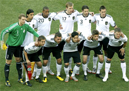 Germany plays the Quarterfinals against Argentina in the South Africa world cup 2010, called also knockout stage where the national teams play a standard single elimination game, there are no ties during the match and after 90 minutes if ends draw there are two extra times of 15 minutes and if draw to the penalty kicks to know the winner of the round of 16 and go to the quarter of final