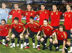 Spain plays the Round of 16 in the South Africa world cup 2010, called also knockout stage where the national teams play a standard single elimination game, there are no ties during the match and after 90 minutes if ends draw there are two extra times of 15 minutes and if draw to the penalty kicks to know the winner of the round of 16 and go to the quarter of final